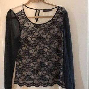 The limited black and cream lace blouse